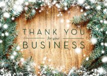 Thanks for the Business! Holiday Greeting Cards